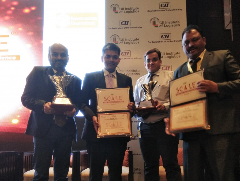 Mr. Aditya Shah, Executive Director, V-Trans (Second from Left) at the CII Supply Chain and Logistics