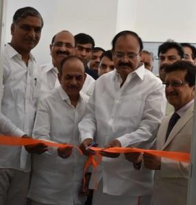 M Venkaiah Naidu and Gati Founder CEO, Mahendra Agarwal Inaugurating Gati Drivers Training Institute (PRNewsfoto/Gati Limited)