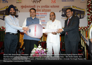 Screenshot-2018-3-18 Maharashtra Chief Minister Shri Devendra Fadnavis formally hands over 25 'Tata Starbus Hybrid Electric[...]